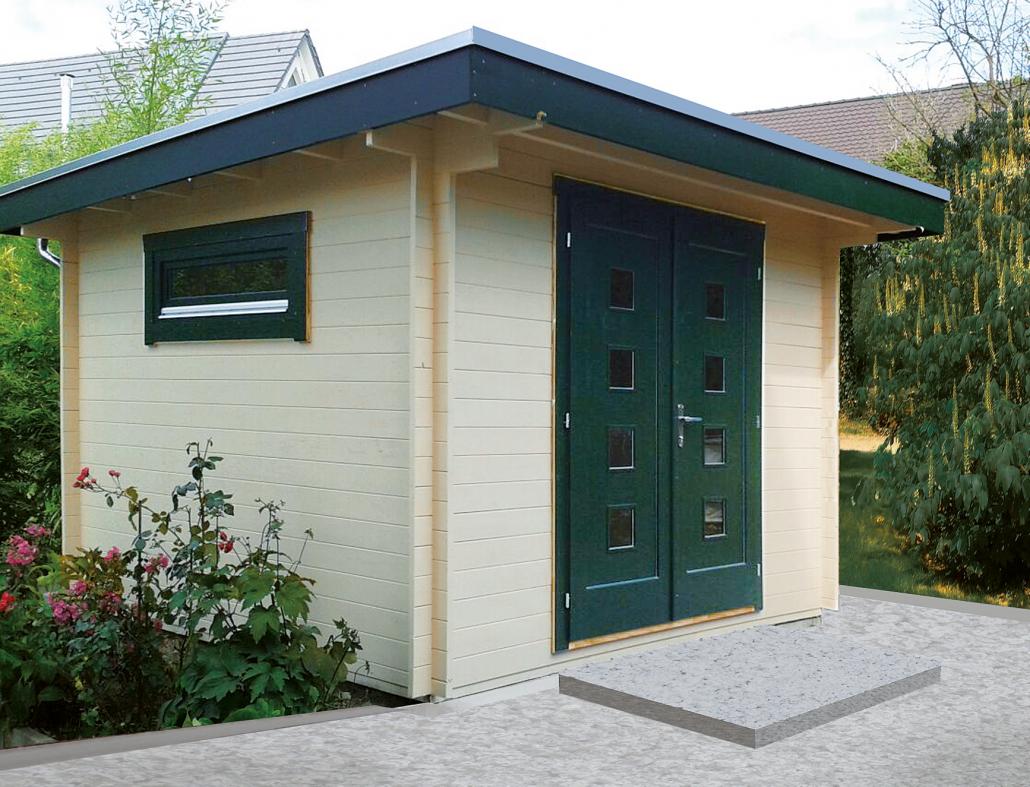moderne gartenh user kaupp blockhaus. Black Bedroom Furniture Sets. Home Design Ideas