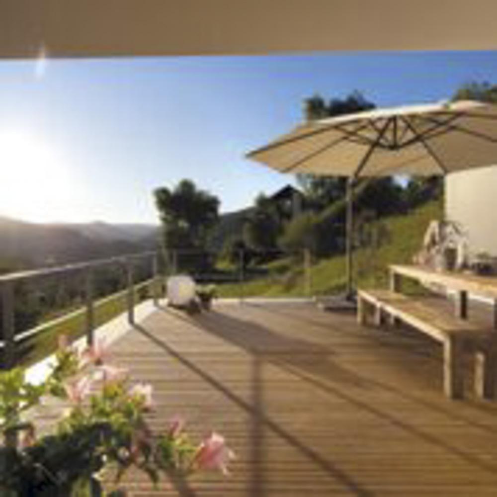 terrassenbelag kaupp blockhaus. Black Bedroom Furniture Sets. Home Design Ideas